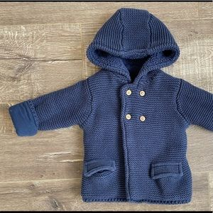 M&S Thick, Knitted Cardigan for Baby 9-12M